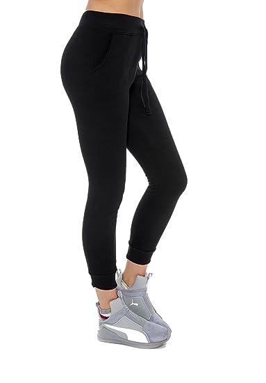 f86c0c731d3a9 Unique Styles Womens Juniors Jogger Sweatpants Lounge Fleece Pants with  Pockets Black