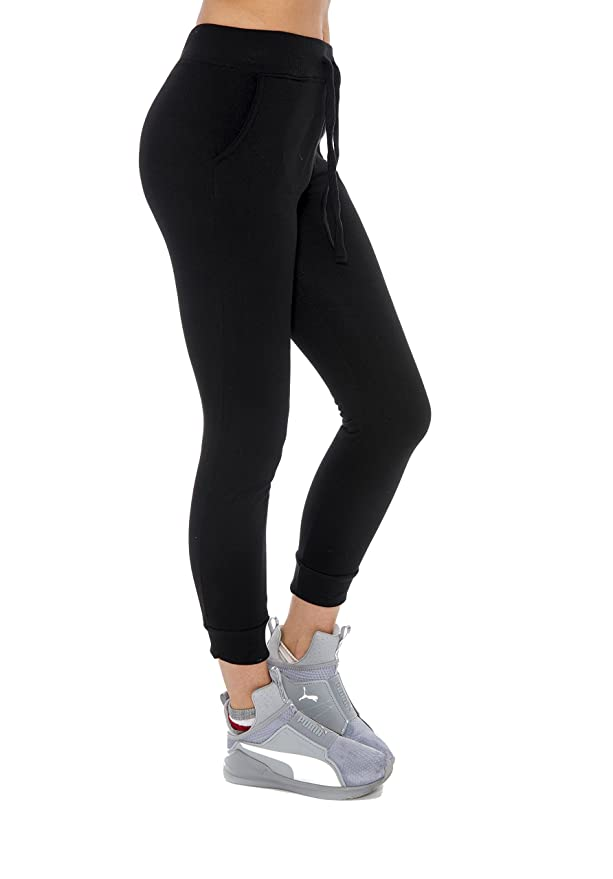 06e7a3349 Unique Styles Womens Juniors Jogger Sweatpants Lounge Fleece Pants with  Pockets at Amazon Women's Clothing store: