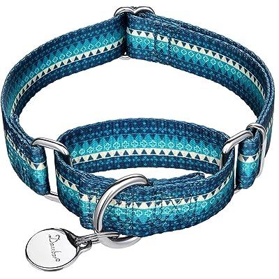 Dazzber Martingale Collar Dog Collar No Pull Pet Collar Heavy Duty Dog Martingale Collars Silky Soft
