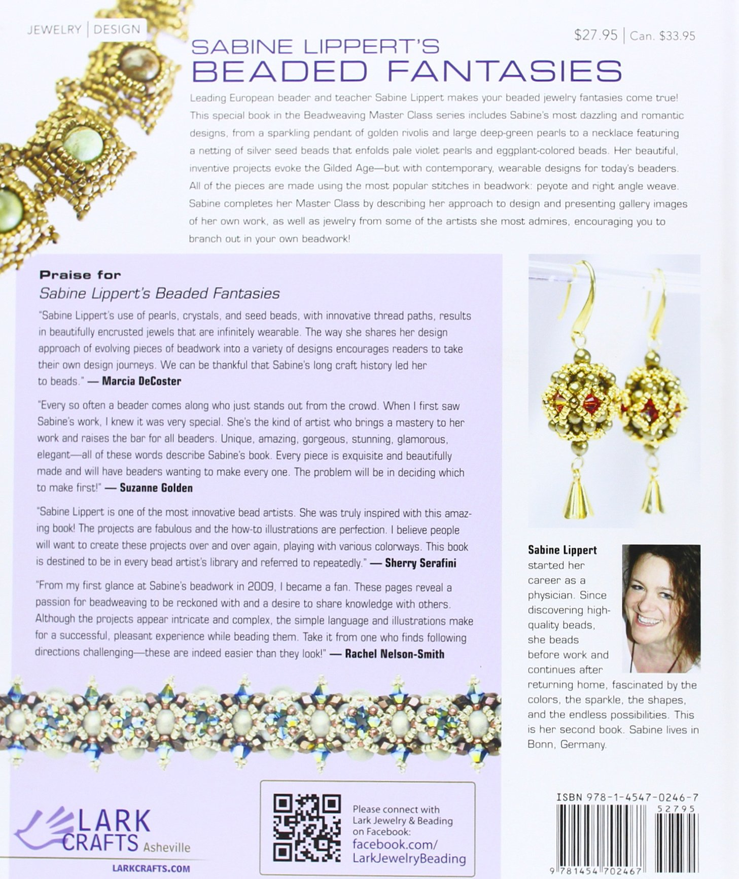 Sabine Lippert's Beaded Fantasies: 30 Romantic Jewelry Projects (Beadweaving Master Class Series) by Lark Books NC