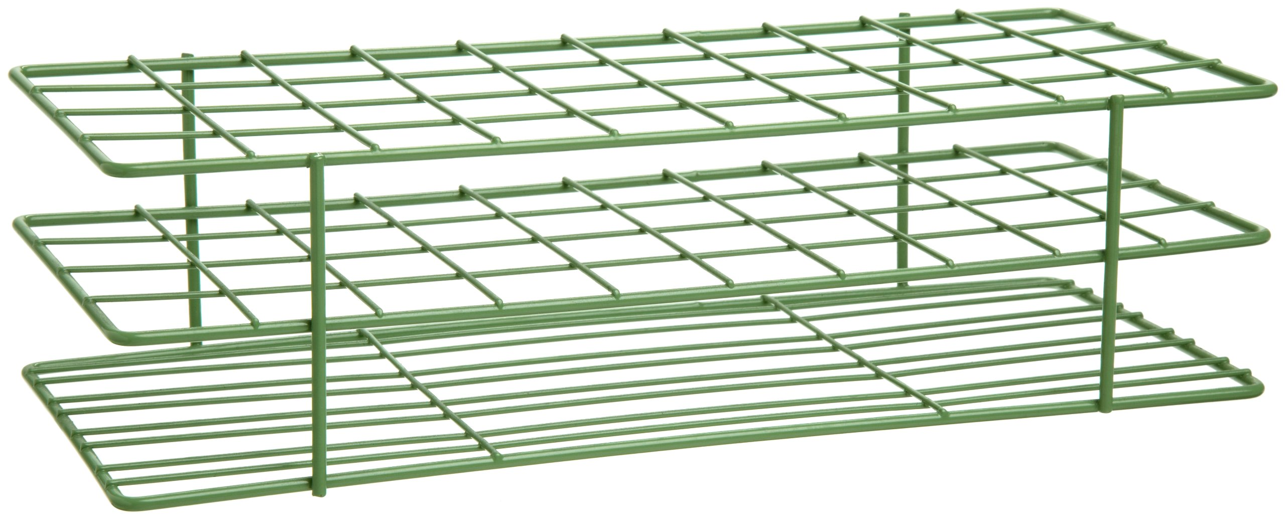 Bel-Art F18772-0000 Poxygrid Test Tube Rack; 20-25mm, 40 Places, 11⁹/₁₆ x 5¹/₁₆ x 3¹/₄ in., Green