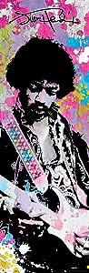 Jimi Hendrix Colors Classic Rock Music Poster Print 12x36