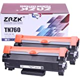 ZRZK Compatible Toner Cartridge Replacement for Brother TN760 TN-760 TN730 to Use with HL-L2350DW, HL-L2390DW, HL-L2395DW Pri