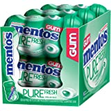 Mentos Pure Fresh Sugar-Free Chewing Gum, Spearmint, 50 Piece Bottle (Pack of 6)