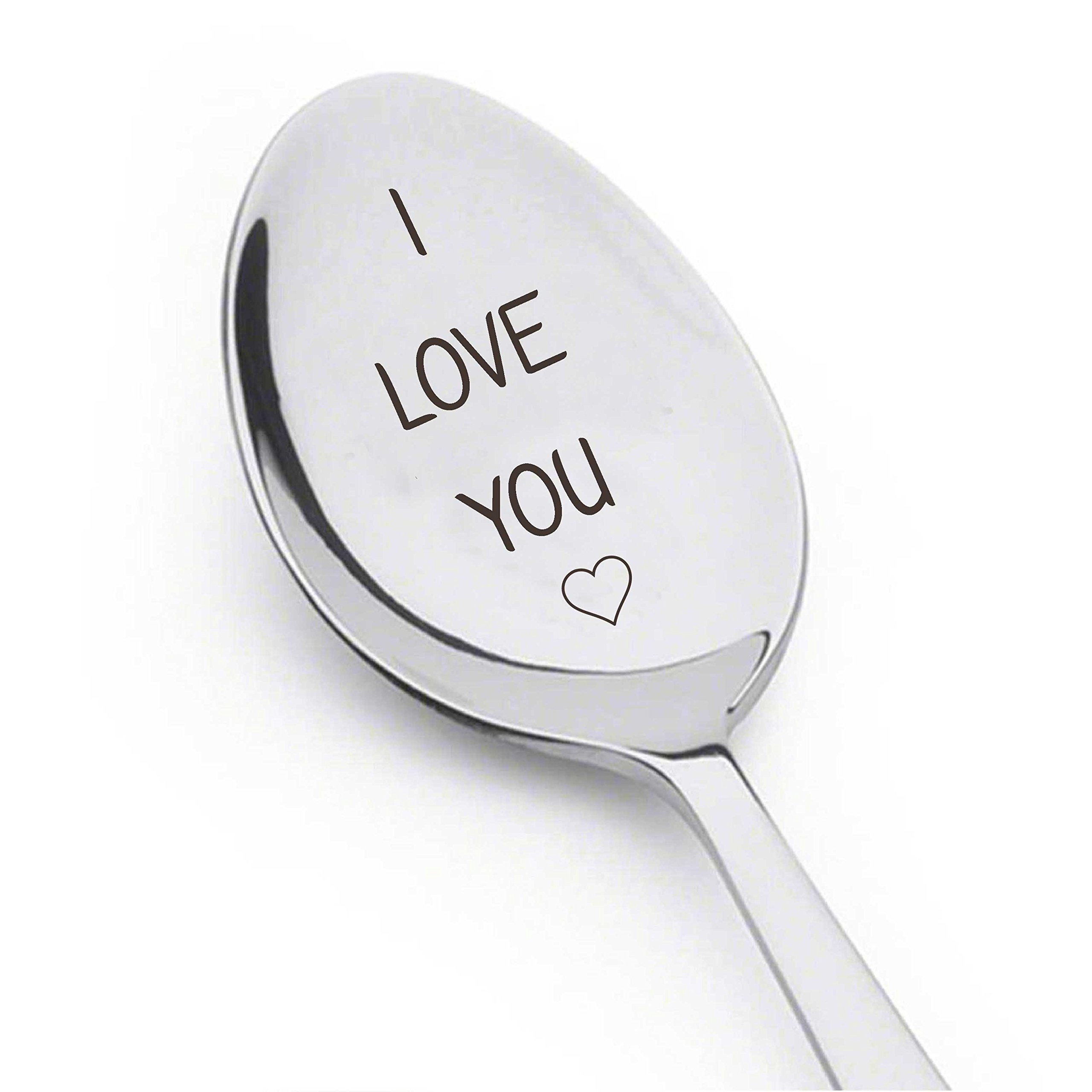 Engraved I Love You Spoon - Romantic Gift - Cute Gift - Gifts Under 15 For Women - Under 15 For men - # A22