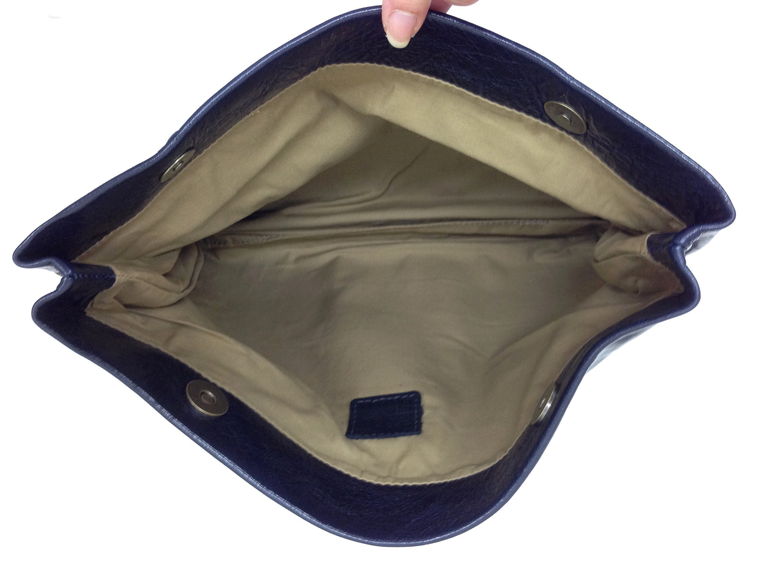Embossed Black Leather clutch purse Women evening bag orgenaizer Handmade handbag