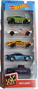 Hot Wheels 1:64 Scale 5 Pack hw Flames 50th Anniversary