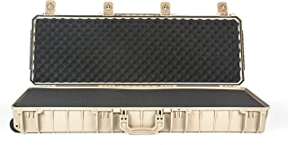 product image for Seahorse SE1530 Desert Tan Gun case, with Solid Layered Foam Interior and 2 Metal keyed Locks.