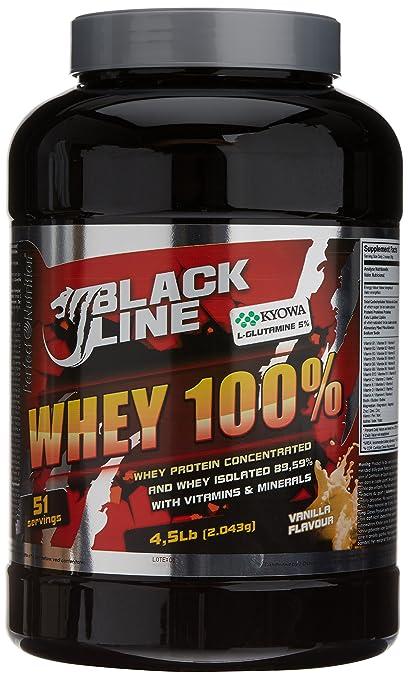 Perfect Nutrition Black Line 100% Whey, Suplementos de Proteínas, Sabor a Vainilla -