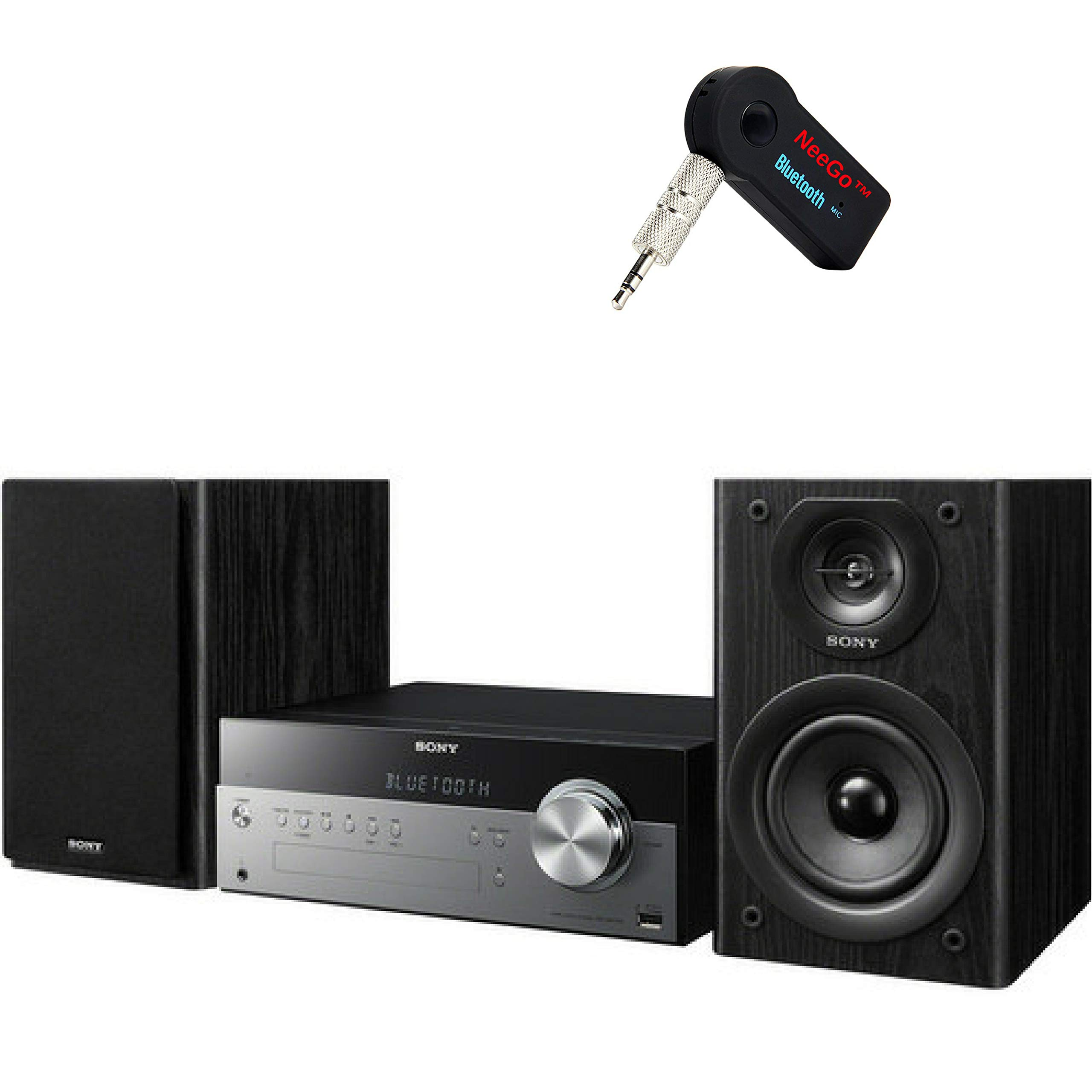 Sony Bluetooth Micro Music System Bundle – [2] Piece Set Includes Micro Hi-fi Shelf System with Single Disc Cd Player, Bluetooth, USB Input, 2-Way, Bass Reflex Speakers NeeGo Bluetooth Receiver; by NEEGO (Image #6)