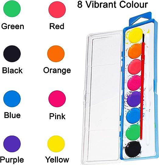 Set de Pintura de Acuarela - 36 Piezas con 8 Colores Vinrantes y ...