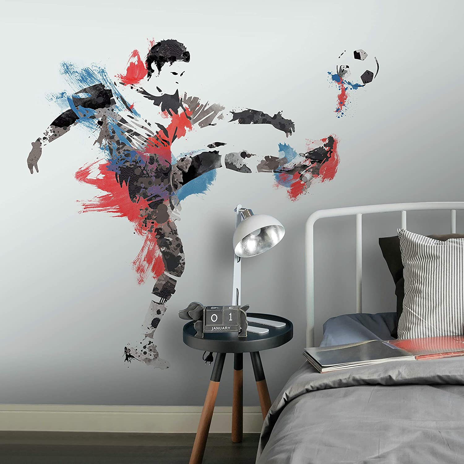 RoomMates Men'S Soccer Champion Peel And Stick Giant Wall Decals
