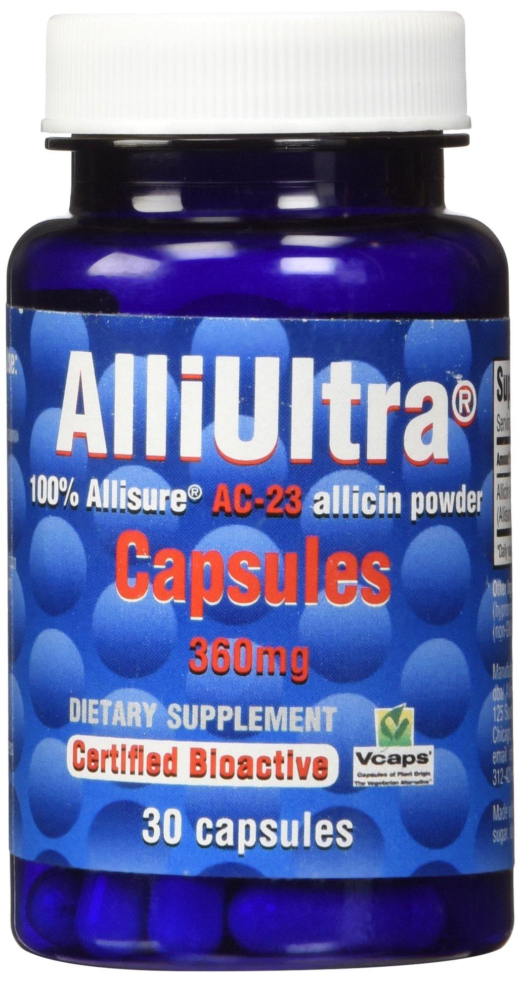 Allimax - Alliultra AC-23 Allicin Capsules, 360 mg, 30 Vcaps Capsules
