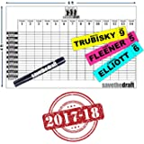 2017 Fantasy Football Draft Board and Player Label Kit