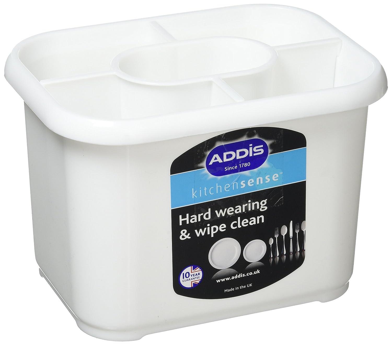 Addis Plastic Cutlery Drainer Holder White: Amazon.co.uk: Kitchen & Home