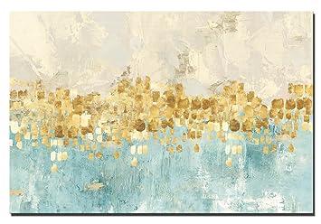 60 X 90 Cm   Leinwand Drucke Wandkunst   Golden Abstrakt Kunst Moderne  Drucke Auf Leinwand