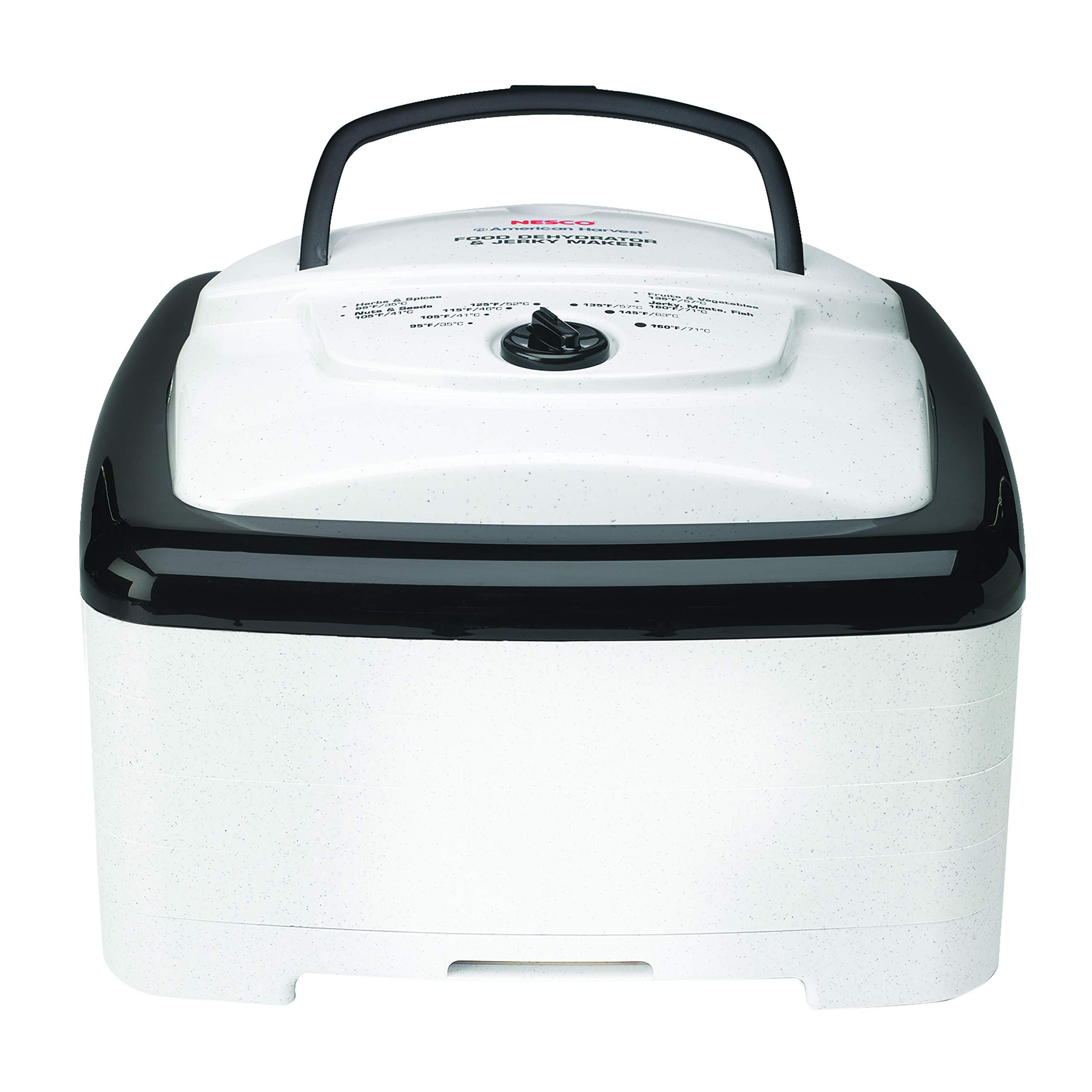 NESCO FD-80A, Square-Shaped Dehydrator, White Speckled, 700 watts by Nesco