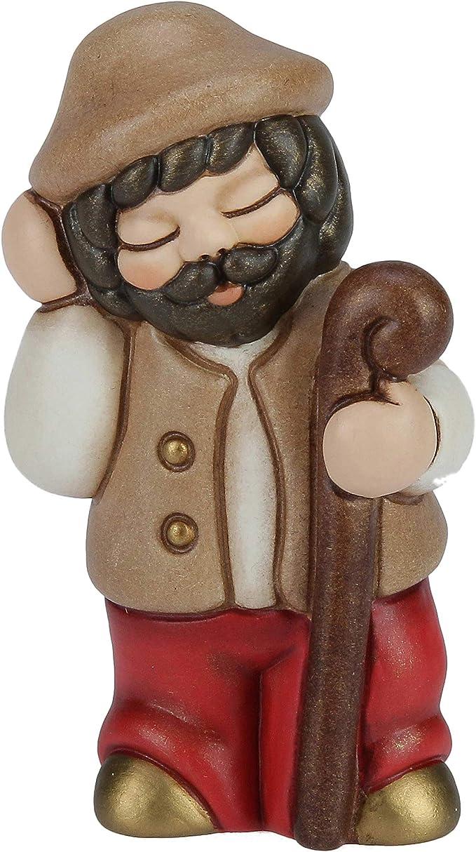 THUN/® Versione Rossa I Classici Pastore con Bastone Statuine Presepe Classico Ceramica