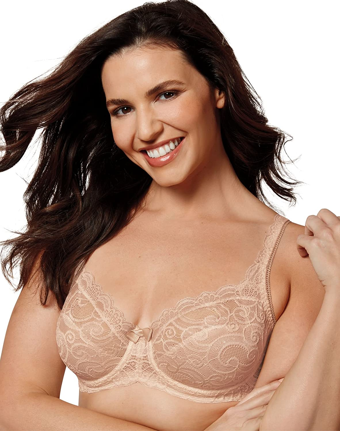 Playtex Women's Love My Curves Beautiful Lace and Lift Underwire Full Coverage Bra #4825