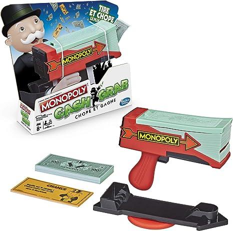 Monopoly Cash & Grab: Chope et Gagne - Juego de Mesa Divertido, versión Francesa: Amazon.es: Juguetes y juegos
