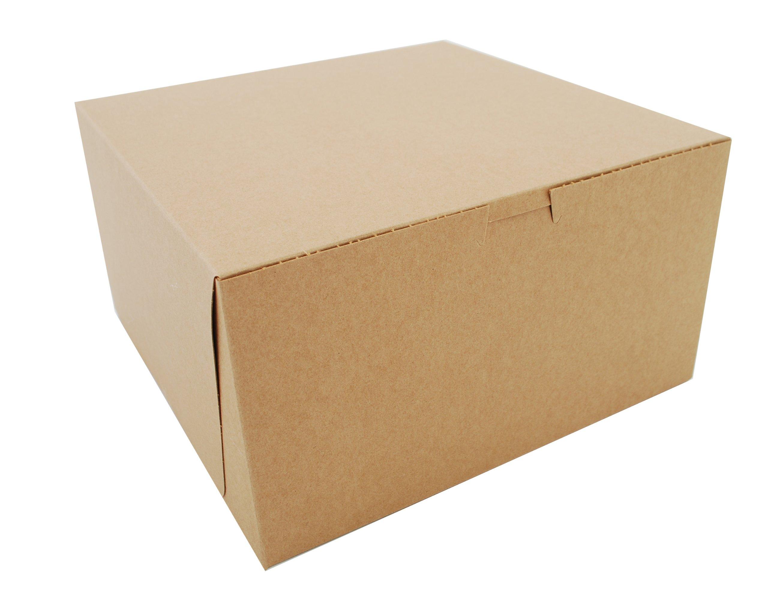 Southern Champion Tray 0977K Kraft Paperboard Non Window Lock Corner Bakery Box, 10'' Length x 10'' Width x 5-1/2'' Height (Case of 100)
