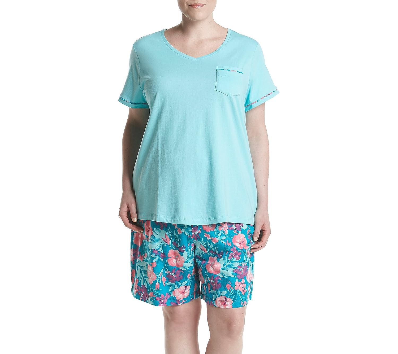 Intimate Essentials Plus Size Floral Bermuda Pajama Set