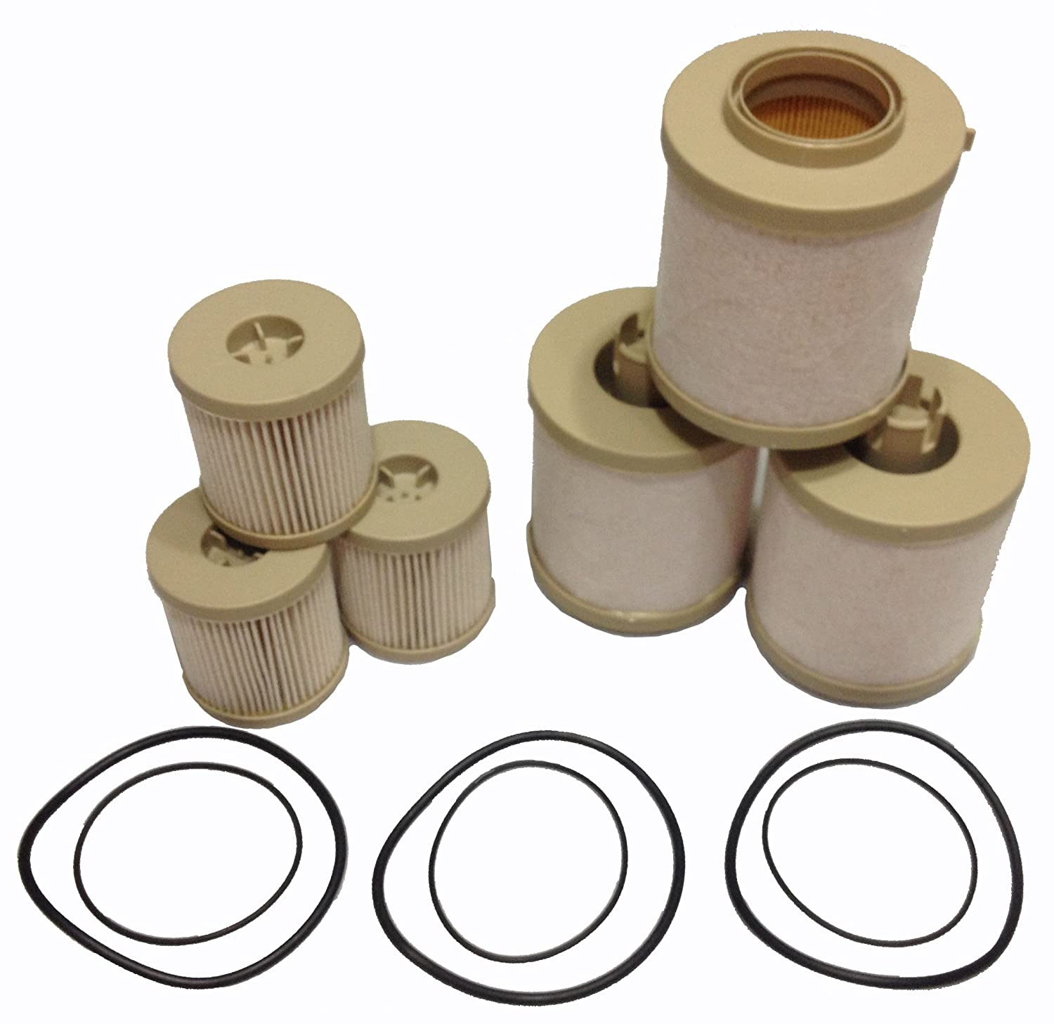 Ford 6.0L 2003-2007 Diesel Fuel Filter 3 Pack includes lower lifter pump filter and upper fuel bowl filter ADT-60-FD-4604 Ford F250 F350 F450 F550 F650 EXCURSION FD-4604 FD-4616 Replacements