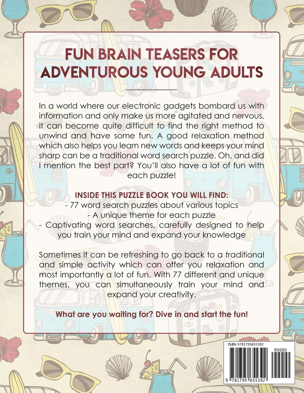 Word Search Puzzle Book for Teens: Fun Brain Teasers for