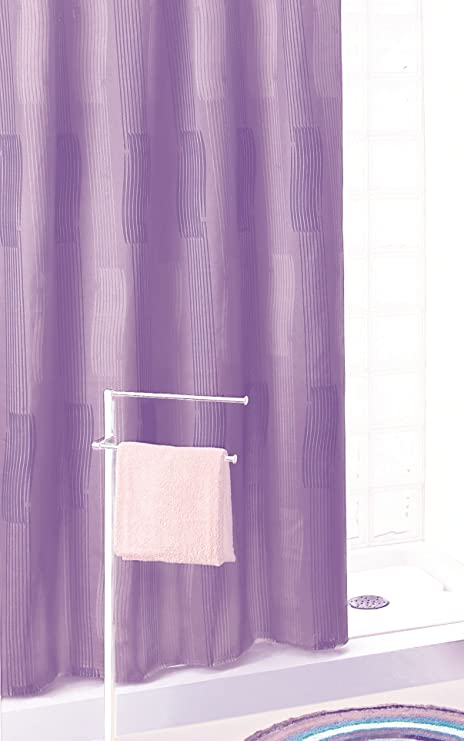 GEDY 111 Lilac Polyester Shower Curtain 180 X 200 Wall Cupboard