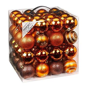 Christbaumkugeln Plastik.64 Christbaumkugeln 6cm Kugelbox Kunststoff Bruchfest Dekokugeln Weihnachtskugeln Baumkugeln Baumschmuck Set Inge Glas Plastik Pvc 60mm