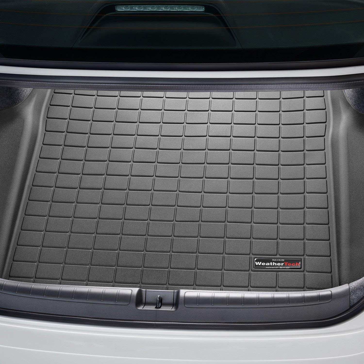All Weather Weathertech Custom Rear Cargo Liner Trunk Mat for Honda Accord - 2018 - Black