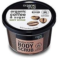 Organic Shop Body Scrub Natural Braziliaanse Coffee and Sugar 250 ml