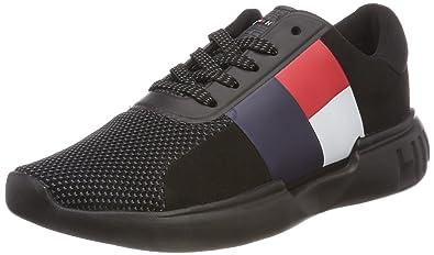 06a1f2a01cfbc Tommy Hilfiger Women s Lightweight Hilfiger Wmn Sneaker Low-Top (Black  990)