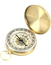 DETUCK(TM Pocket Compass Outdoor Compass Antique Hiking Hunting Camping Survival Compass Metal Compass Tool