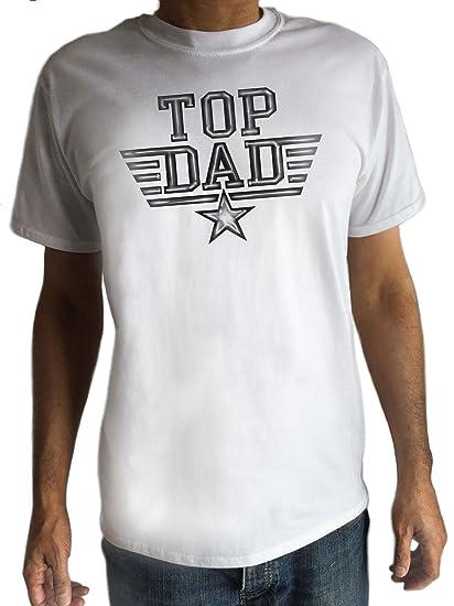 855f0e27 Men's White T-Shirt World's Best Dad Father's Day T-Shirt Top Dad Top Gun -  Novelty TS816