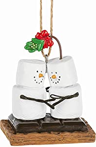 Midwest CBK Ganz S'Mores Kissing Under Mistletoe Christmas Tree Marshmallow Ornament S'Mores Collection