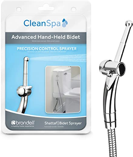 Brondell Hand Held Bidet Sprayer for Toilet CleanSpa Advanced Bidet Attachment with Precision Pressure Control Jet Spray - Ergonomic Handheld Bidet for Toilet - Toilet Water Sprayer and Hose Set