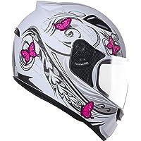 Capacete Ebf Spark New Borboleta 58 Branco/ Rosa