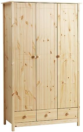 Steens Pine Wardrobe With 3 Doors 3 Drawers Amazon Co Uk Kitchen