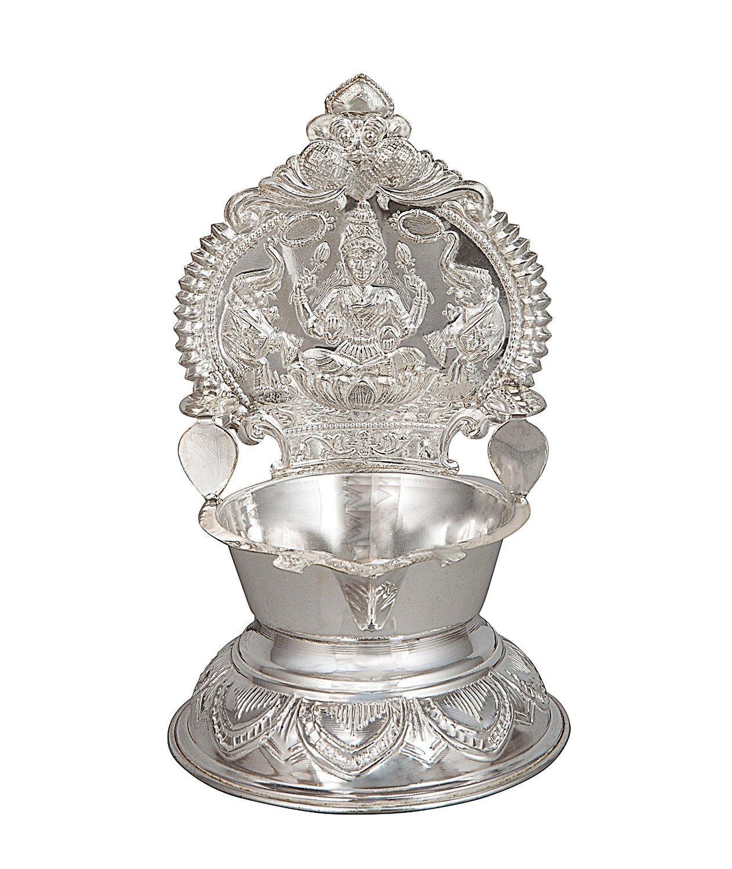 Amazon.com: Pure Silver Kamakshi Lakshmi Ma Diya Lamp/ Silver Puja ... for Silver Kamatchi Lamp  34eri