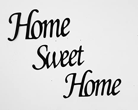 Amazon.com: Home Sweet Home arte de pared de metal: Home ...