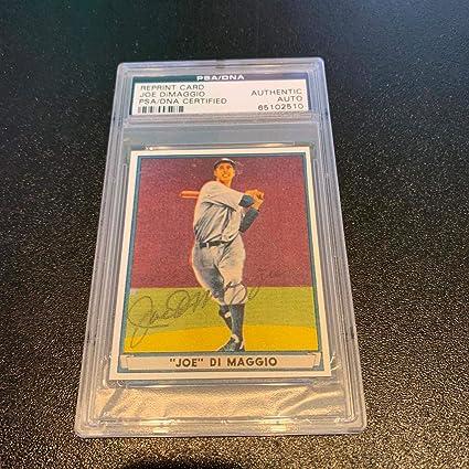 7bf4f237aa649 1941 Play Ball Joe Dimaggio Signed Autographed RP Baseball Card COA ...