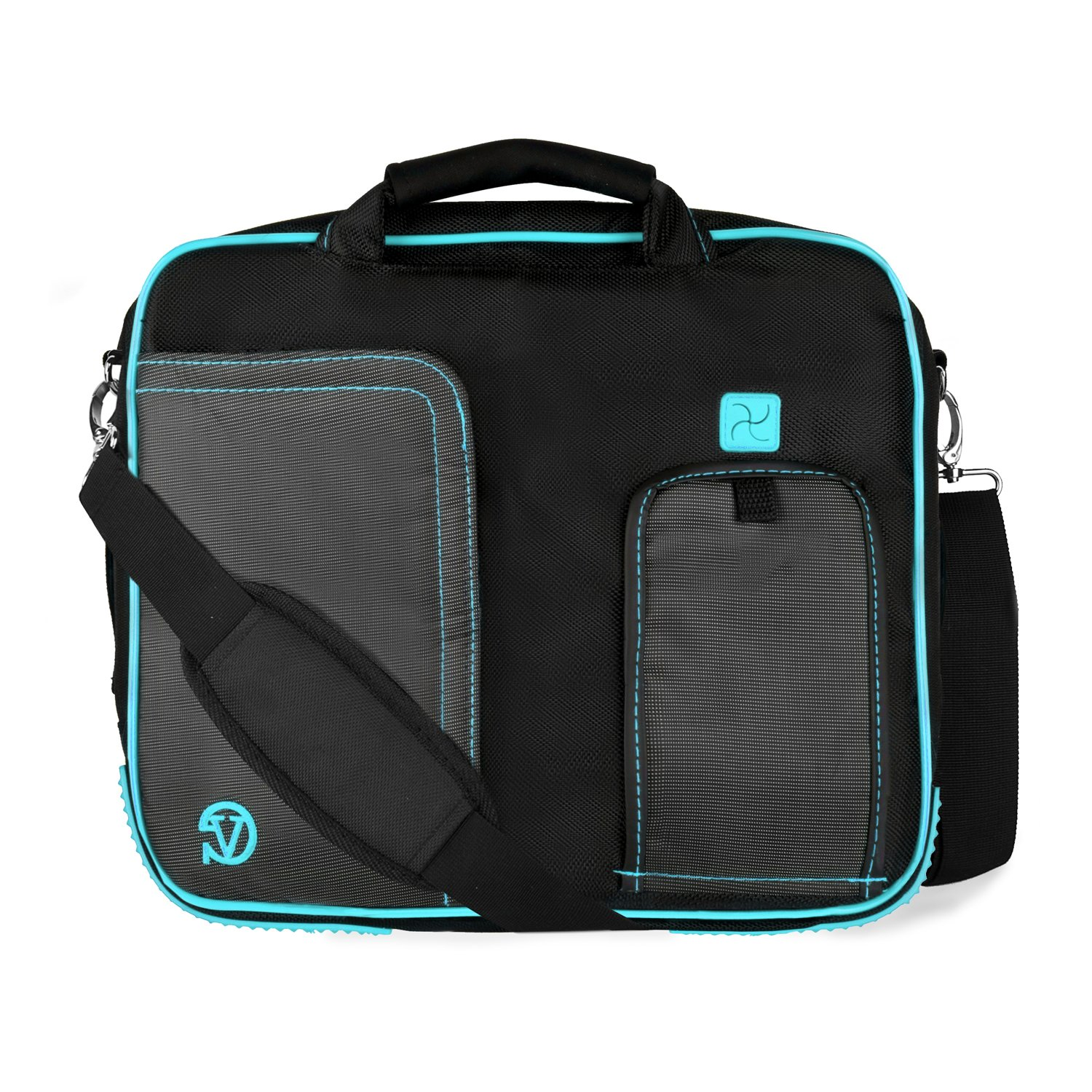 Pindar Ornate Messenger Bag [Aqua] For Dell Inspiron, XPS, Latitude & ChromeBook 11 to 13.3-inch Laptops by Vangoddy