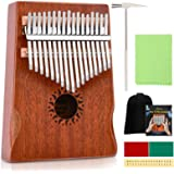 Donner 17 Key Kalimba Thumb Piano Solid Mahogany Body Finger Piano Easy to Learn Mbira Instrument Gift for Kids Adult…