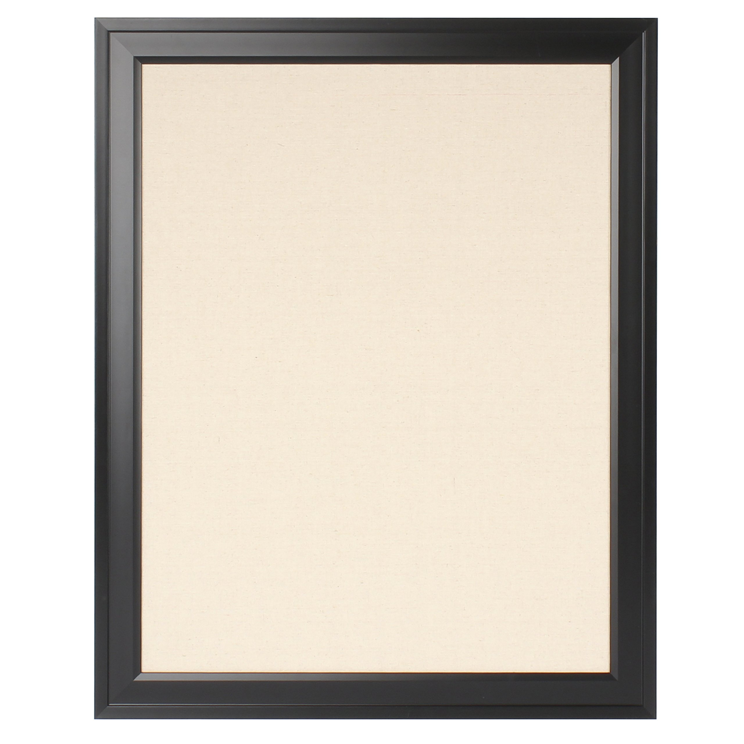 DesignOvation 209410 Bosc Framed Linen Fabric Pinboard, Large, Black ...