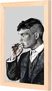 LOWHa Thomas Shelby grey Wall art with Pan Wood framed Ready to hang for home, bed room, office living room Home decor hand made wooden color 23 x 33cm By LOWHa