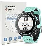 Maxhood (Pack de 2) Garmin Forerunner 235 225 630 620 230 220 Protection d'écran en verre trempé, véritable 0,26 mm 2.5D round edge Premium Film de Protection d'écran en verre trempé