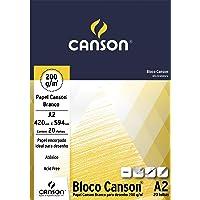 Bloco Canson Desenho Branco 200 g/m² com 20 folhas formato A2