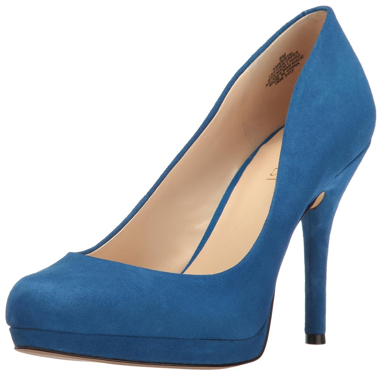 Nine West Women's Kristal Suede Dress Pump B01N64F93R 10 B(M) US|Blue
