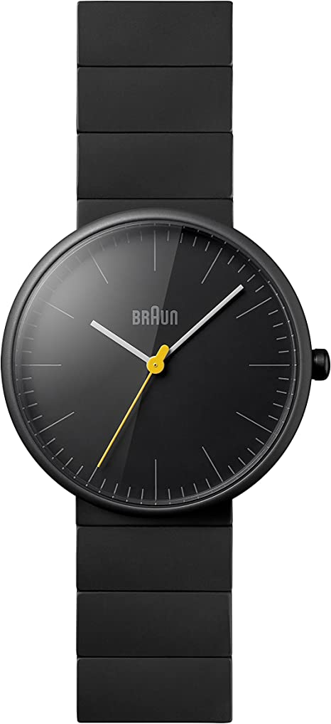 Amazon.com: Braun Men's BN0171BKBKG Ceramic Analog Display Japanese Quartz  Black Watch: Braun: Watches